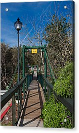 Swing Bridge In A Forest, Arroyo Acrylic Print by Panoramic Images