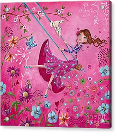 Swing Girl Acrylic Print by Caroline Bonne-Muller