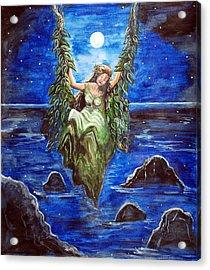 Swing In Moonlight Acrylic Print by Saranya Haridasan