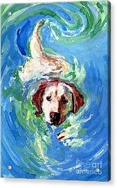 Swirl Pool Acrylic Print by Molly Poole