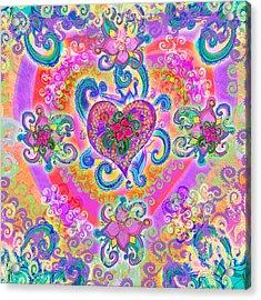 Swirley Heart Variant 1 Acrylic Print by Alixandra Mullins