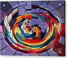 Swirls Acrylic Print by Gabriele Mueller