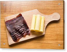 Swiss Food - Dried Meat And Cheese Acrylic Print by Matthias Hauser
