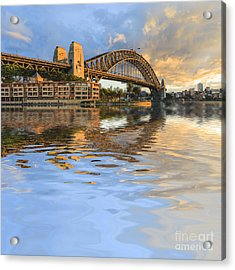 Sydney Harbour Bridge Australia Spectacular Early Morning Light Acrylic Print by Colin and Linda McKie