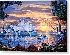 Sydney Opera House Acrylic Print by Steve Crisp