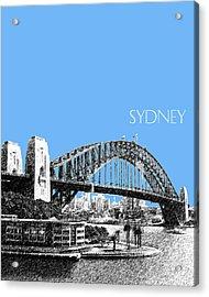 Sydney Skyline 2 Harbor Bridge - Light Blue Acrylic Print by DB Artist