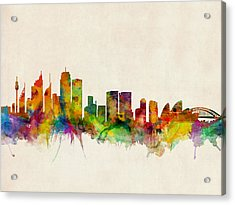 Sydney Skyline Acrylic Print by Michael Tompsett