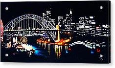 Sydney Acrylic Print by Thomas Kolendra