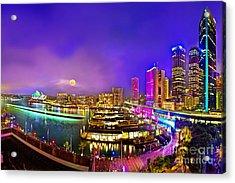Sydney Vivid Festival 2012 Acrylic Print by Az Jackson