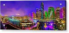 Sydney Vivid Festival Acrylic Print by Az Jackson