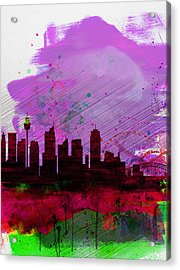 Sydney Watercolor Skyline 2 Acrylic Print by Naxart Studio
