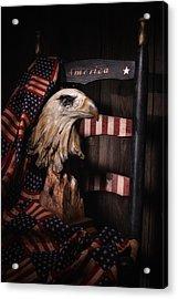 Symbol Of America Still Life Acrylic Print by Tom Mc Nemar