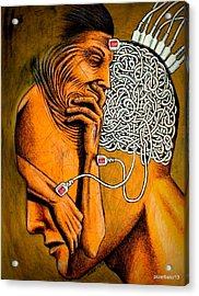 Symbols Extremely Efficient To Transmit Information Acrylic Print by Paulo Zerbato