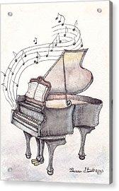 Symphony Acrylic Print by Theresa Stinnett
