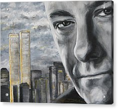 T And The Wtc Acrylic Print by Eric Dee