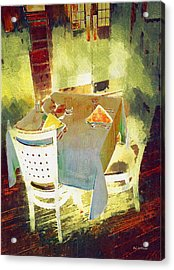 Table At The Fauve Cafe Acrylic Print by RC deWinter