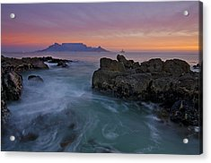 Table Mountain Sunset Acrylic Print by Aaron S Bedell