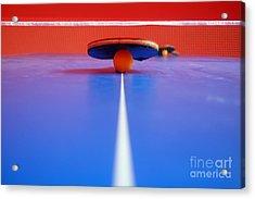 Table Tennis Acrylic Print by Michal Bednarek