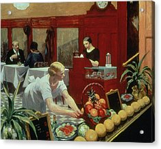 Tables For Ladies Acrylic Print by Edward Hopper