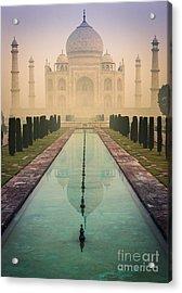 Taj Mahal Predawn Acrylic Print by Inge Johnsson