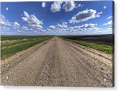 Take A Back Road Acrylic Print by Aaron J Groen