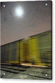 Take A Fast Train Acrylic Print by Guy Ricketts