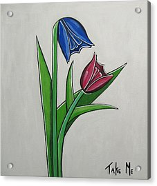 Take Me Acrylic Print by Sandra Marie Adams