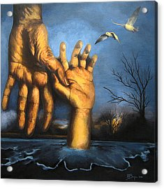 Take My Hand Acrylic Print by Andrea Banjac