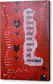Take The First Step Acrylic Print by Gillian Pearce