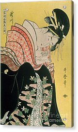 Takigawa From The Tea House Ogi Acrylic Print by Kitagawa Otamaro