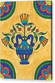 Talavera Flora 2 Acrylic Print by Susie WEBER
