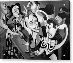 Talking Sweet Nothings At The Bar Acrylic Print by Anthony Falbo