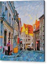 Tallinn City Scape Acrylic Print by Yury Malkov