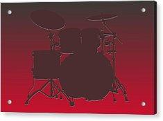 Tampa Bay Buccaneers Drum Set Acrylic Print by Joe Hamilton