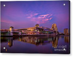 Tampa Convention Center At Dusk Acrylic Print by Marvin Spates
