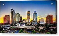 Tampa Skyline Acrylic Print by Marvin Spates