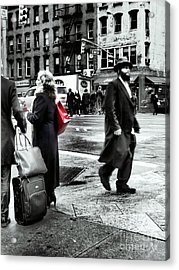 Tangents - A Walk In The City Acrylic Print by Miriam Danar