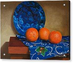 Tangerines Acrylic Print by Mikhail Kovalev