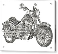 Tangled Harley Davidson Fatboy Acrylic Print by Dianne Ferrer