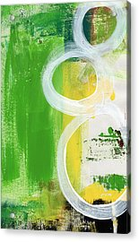 Tango- Abstract Painting Acrylic Print by Linda Woods