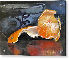 Tangy Tangerine Acrylic Print by MaryAnne Ardito