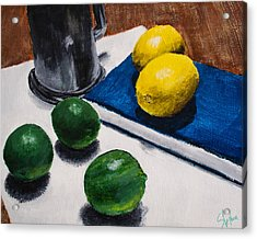 Tankard And Citrus 8x10 Acrylic Print by Stephen Nantz