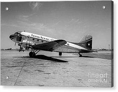 Tans-texas Air Douglas Dc-3 Acrylic Print by Wernher Krutein