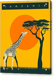 Tanzania Travel Poster Acrylic Print by Jazzberry Blue