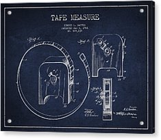 Tape Measure Patent Drawing From 1906 Acrylic Print by Aged Pixel