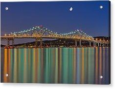 Tappan Zee Bridge Reflections Acrylic Print by Susan Candelario