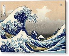 Tardis V Katsushika Hokusai Acrylic Print by GP Abrajano