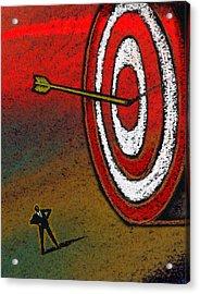 Target Acrylic Print by Leon Zernitsky