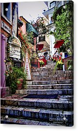 Taormina Steps Sicily Acrylic Print by David Smith