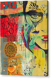 Tarot Card Abstract 007 Acrylic Print by Corporate Art Task Force